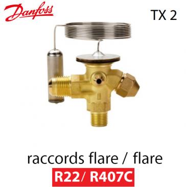 Détendeur thermostatique TX 2 - 068Z3206 - R 22/R 407C Danfoss