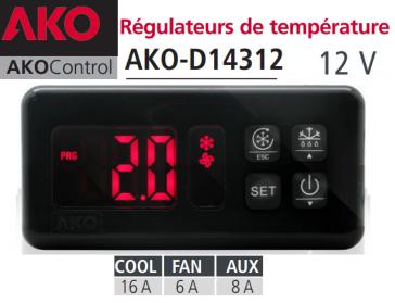 Régulateur AKO-D14312 avec deux sondes NTC