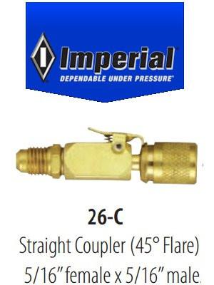 Coupleur rapide droit Imperial 26-C pour R-410a