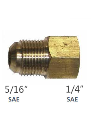 Raccord 1/4'' SAEF x 5/16'' SAEM pour R410
