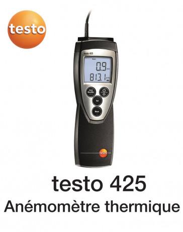 Testo 425 - Thermo-anémomètre avec sonde d'écoulement