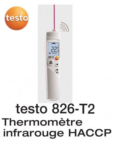 Testo 826-T2 - Thermomètre infrarouge, avec visée laser 1 point et alarme acoustique