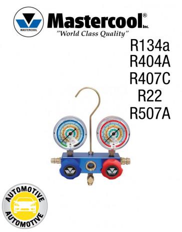 Manifold 2 Vannes à piston pour climatisation automobile Mastercool R134a, R404A, R407C, R22, R507A