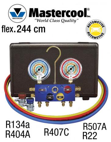 Manifold 4 vannes à bille - R134a, R404A, R407C, R507A et R22 - pour climatisation automobile de Mastercool