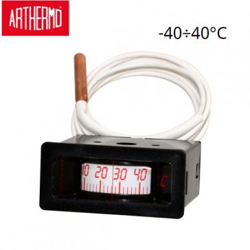 Thermomètre rectangulaire à capillaire ARTHERMO ROF 88