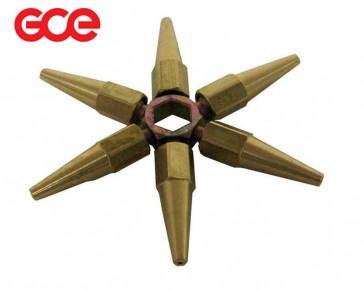 Étoile-clé 6 + 1 Becs de soudage propane pour Jetsound GCE