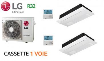 LG Bi-Split Cassette 1 voie MU3R21.U21 + 2 X MT11R.NU1