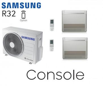 Samsung Console au sol Bi-Split AJ068TXJ3KG + 1 AJ026TNJDKG + 1 AJ052TNJDKG