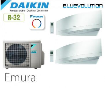 Daikin Emura Bisplit 2MXM68N + 2 FTXJ35MW - R32