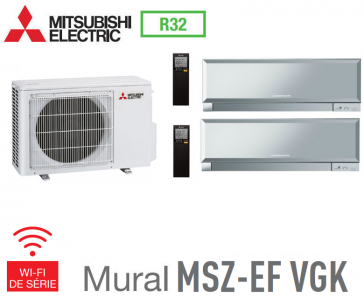 Mitsubishi Bi-split Mural Inverter Design MXZ-2F42VF + 2 MSZ-EF22VGKS