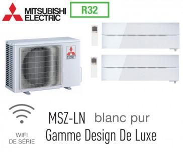 Mitsubishi Bi-split Mural Design De Luxe MXZ-2F53VF + 2 MSZ-LN25VGW - R32