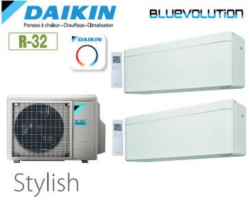 Daikin Stylish Bisplit 2MXM68N + 2 FTXA35AW - R32