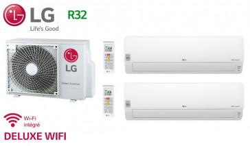 LG Bi-Split DELUXE WIFI MU2R17.UL0 + 1 X DM07RP.NSJ + 1 x  DC09RQ.NSJ - R32