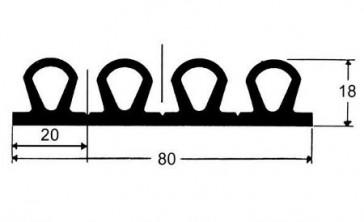BOURRELET NOIR  G-502-520 (-45°C) en 6 m