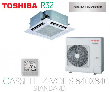 Toshiba Cassette 4-Voies 840X840 STANDARD DI RAV-RM1101UTP-E monophasé