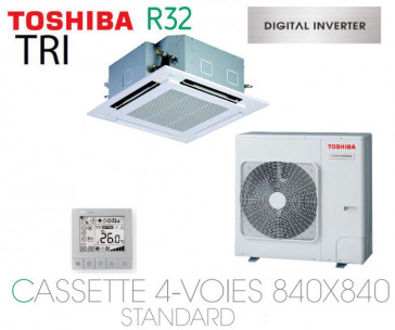 Toshiba Cassette 4-Voies 840X840 STANDARD DI RAV-RM1601UTP-E triphasé