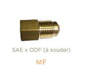 Raccord en laiton Mâle SAE X Femelle ODF à souder