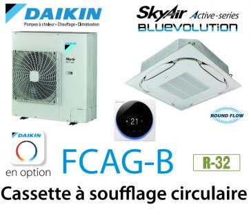 Daikin Cassette 8 voies «Round Flow» Active FCAG100B monophasé