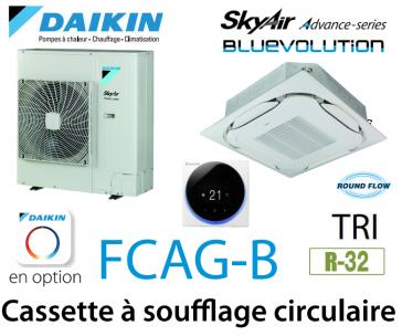 Daikin Cassette 8 voies «Round Flow» Advance FCAG125B triphasé