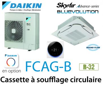 Daikin Cassette 8 voies «Round Flow» Advance FCAG100B monophasé