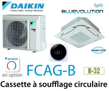 Daikin Cassette 8 voies «Round Flow» SPLIT FCAG35B monophasé