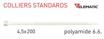 "Colliers de câblage standard Naturel 200x4,5 mm de ""Elematic"""