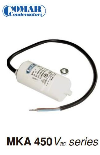 Condensateur permanent MKA 4 μF - 450 de Comar  - CABLE