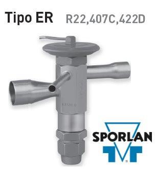 Détendeur thermostatique Sporlan- gamme ER - pour R22, 407C, 422D