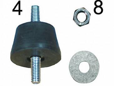 Kit 4 amortisseurs en caoutchouc AG 45