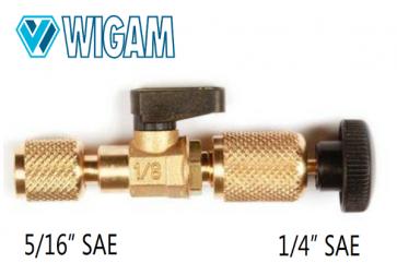 """Extracteur valve Schrader avec vanne et connexion pour R-410A (5/16"""")"""