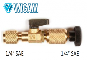"Extracteur valve Schrader avec vanne et connexion 1/4"" SAE"
