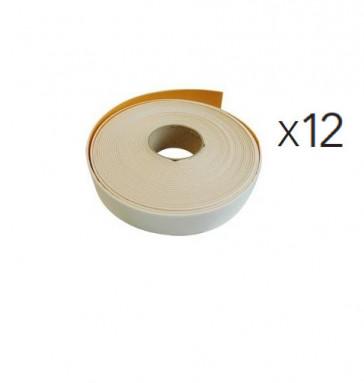 Lot de 12 Bandes Isolantes autocollante blanche de 50mmX3mmX15m