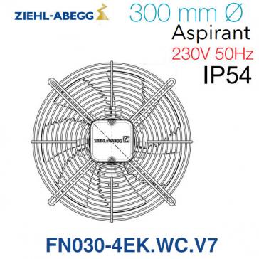 Ventilateur hélicoïde FN030-4EK.WC.V7 de Ziehl-Abegg
