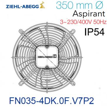 Ventilateur hélicoïde FN035-4DK.0F.V7P2 de Ziehl-Abegg