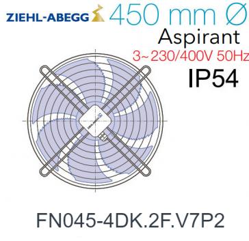 Ventilateur hélicoïde FN045-4DK.2F.V7P2 de Ziehl-Abegg