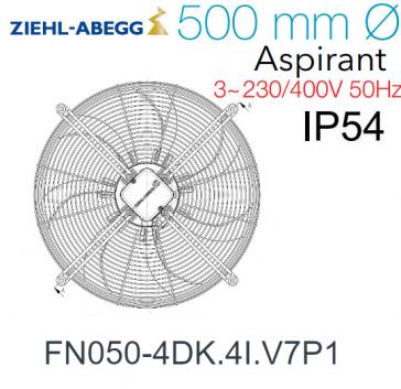 Ventilateur hélicoïde FN050-4DK.4I.V7P1  de Ziehl-Abegg