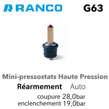 Pressostat miniature HP G63-P3026650 Ranco