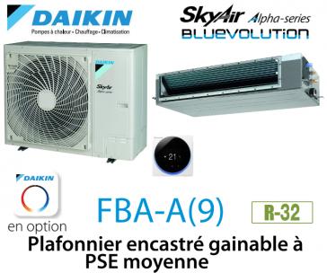 Daikin Plafonnier encastré gainable à PSE moyenne Alpha FBA100A monophasé