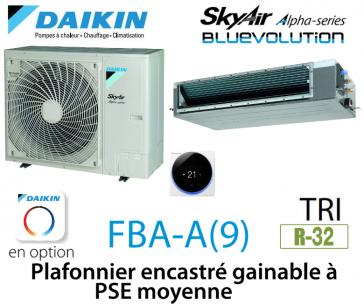 Daikin Plafonnier encastré gainable à PSE moyenne Alpha FBA100A triphasé
