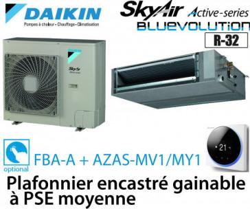 Daikin Plafonnier encastré gainable à PSE moyenne Active FBA71A