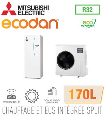 Ecodan duo 4 Eco Inverter CHAUFFAGE SEUL + ECS 170L EHST17D-VM2D + SUZ-SWM40VA