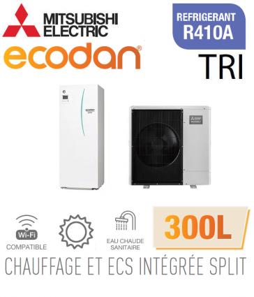 Ecodan duo 11 CHAUFFAGE SEUL + ECS 300L EHST30D-VM2ED + PUHZ-SW100YAA