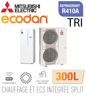 Ecodan duo 16 CHAUFFAGE SEUL + ECS 300L EHST30C-VM6D + PUHZ-SW120YHA