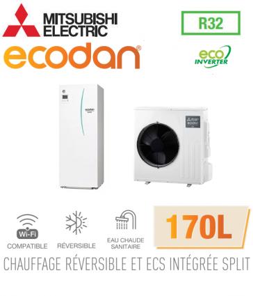 Ecodan duo 6 Eco Inverter réversible 170L ERST17D-VM2D + SUZ-SWM60VA