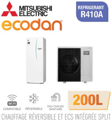 Ecodan duo 11 réversible 200L ERST20C-VM2D + PUHZ-SW100VAA