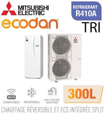 Ecodan duo 16 réversible 300L ERST30C-VM2ED + PUHZ-SW120YHA