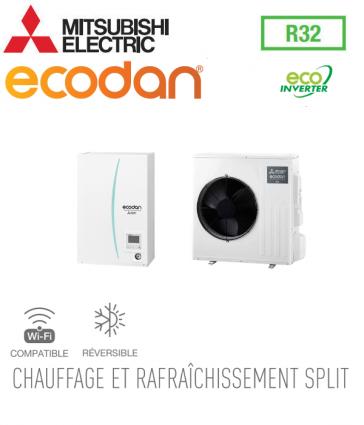Ecodan 8 Eco Inverter réversible ERSD-VM2D + SUZ-SWM80VA