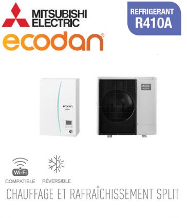 Ecodan 11 réversible ERSC-VM2D + PUHZ-SW100VAA
