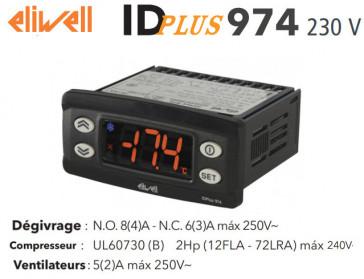 Contrôleur électronique Eliwell IDPLUS 974 230V