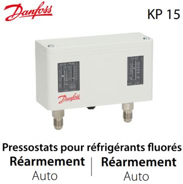 Pressostat double automatique - 060-124166 - Danfoss